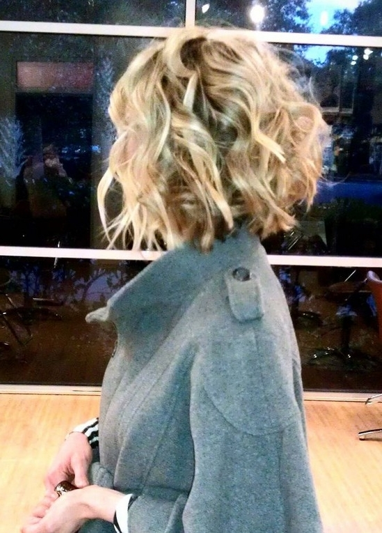 Short Blonde Curly Bob Hairstyle For 2014 | Girls Hair Ideas Pertaining To Curly Angled Blonde Bob Hairstyles (View 25 of 25)