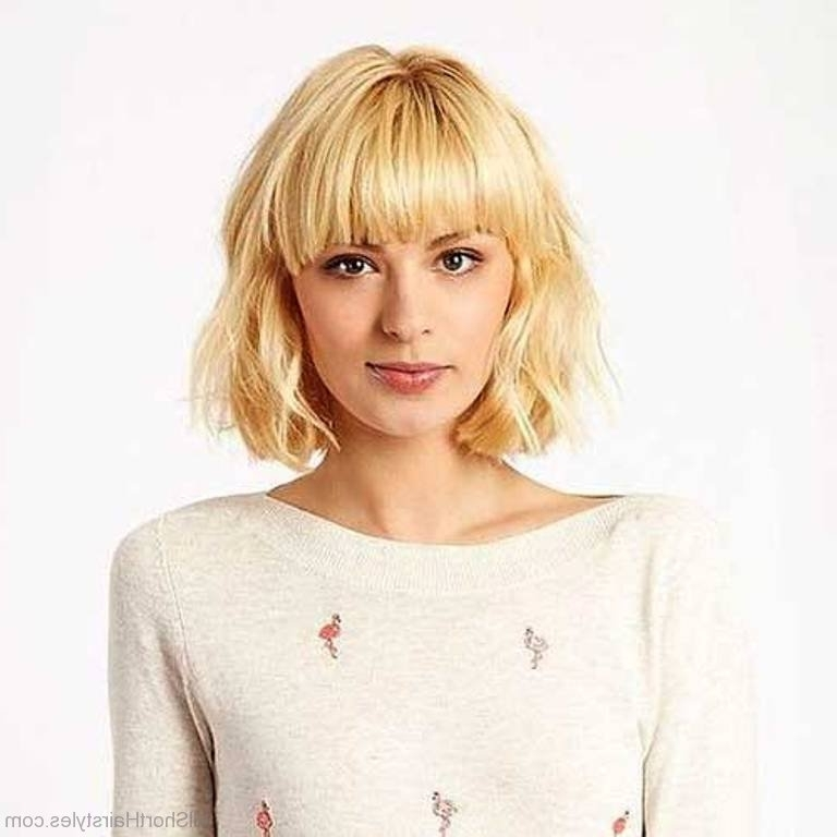 Short Blonde Hair With Fringe – Best Image Of Blonde Hair 2018 Regarding Cute Blonde Bob With Short Bangs (View 23 of 25)