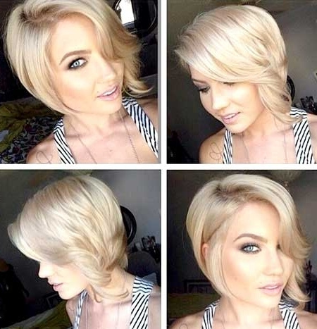 Short Blonde Haircuts For 2014 2015 | Short Hairstyles 2017 – 2018 Throughout Platinum Asymmetrical Blonde Hairstyles (View 21 of 25)