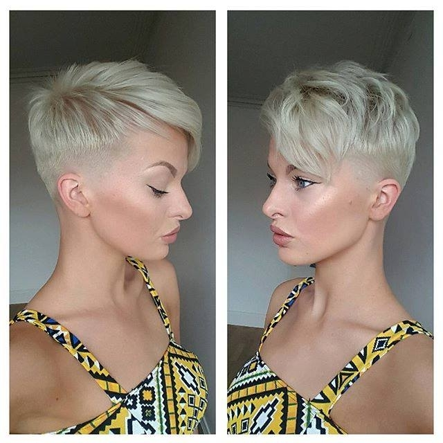 Short, Choppy, Pixie Hairstyle For Blond Haired Girls With Fringe Pertaining To Most Recently Uneven Undercut Pixie Hairstyles (View 13 of 25)
