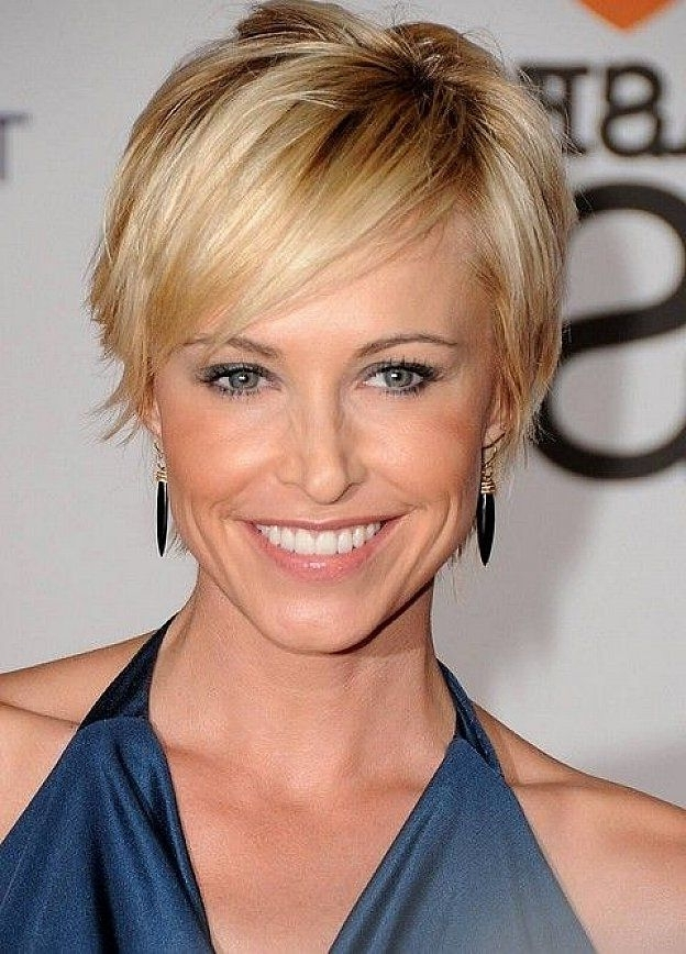 Short Fine Hair (23) – Glamorous Hairstyles Throughout Most Up To Date Funky Blue Pixie Hairstyles With Layered Bangs (View 14 of 25)
