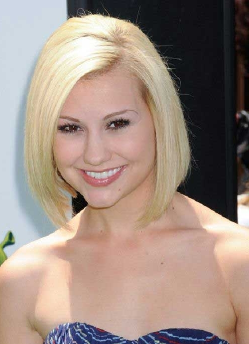 Short Haircut Styles : Short Haircuts For Fine Straight Hair Blonde Pertaining To Inverted Blonde Bob For Thin Hair (View 25 of 25)