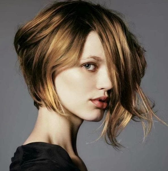 Short Haircuts For Round Faces 2018 In Latest Asymmetrical Long Pixie Hairstyles For Round Faces (View 18 of 25)