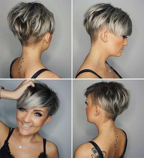 Short Hairstyle 2018 – 20 | Asymmetrical Pixie | Pinterest With Regard To Most Popular Choppy Asymmetrical Black Pixie Hairstyles (View 2 of 25)