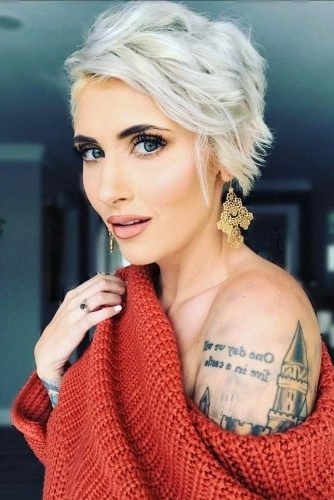 Short Hairstyles For Fine Hair: 21 Short Sassy Haircuts For Women Regarding Sassy Silver Pixie Blonde Hairstyles (View 25 of 25)