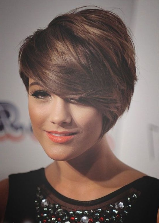 Short Hairstyles For Round Faces (6) – Glamorous Hairstyles Regarding Most Recent Asymmetrical Long Pixie Hairstyles For Round Faces (View 24 of 25)