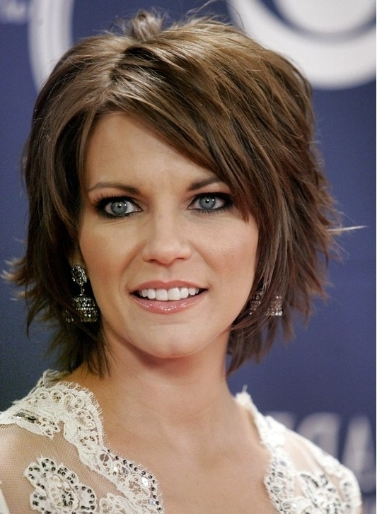 Short Layered Hairstyles With Bangs – Popular Haircuts Regarding Most Recently Brunette Pixie Hairstyles With Feathered Layers (View 7 of 25)