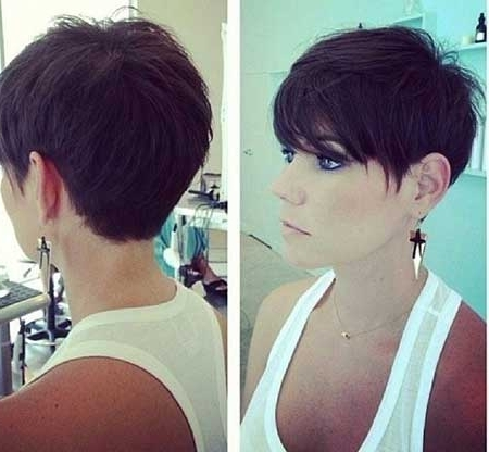 Short Pixie Haircuts 2014 – 2015 | Short Hairstyles 2017 – 2018 With Most Popular Long Voluminous Pixie Hairstyles (View 9 of 25)