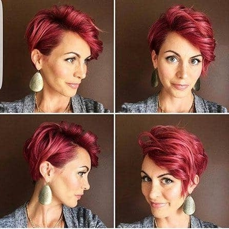 Short Pixie Haircuts 2018 – 2019 Short And Cuts Hairstyles Regarding Best And Newest Ravishing Red Pixie Hairstyles (View 9 of 25)