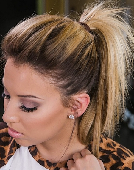 Short Ponytails – Cute Hairstyle Is A Messy Undone Ponytail That Has For Messy And Teased Gray Pony Hairstyles (View 6 of 25)