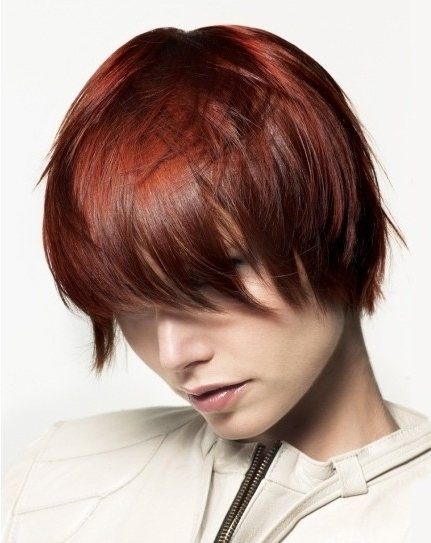 Short Red Hairstyles, Straight Hair Cut – Popular Haircuts Within Most Current Ravishing Red Pixie Hairstyles (View 19 of 25)