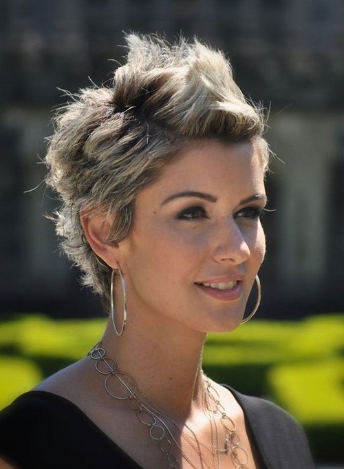 Short Spiky Hairstyles With Two Tone Color For Women – Cool & Trendy For Most Recent Two Tone Pixie Hairstyles (View 24 of 25)