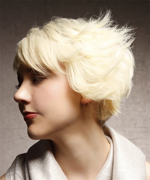 Short Straight Alternative Asymmetrical Hairstyle – Platinum Hair Color With Regard To Platinum Asymmetrical Blonde Hairstyles (View 18 of 25)