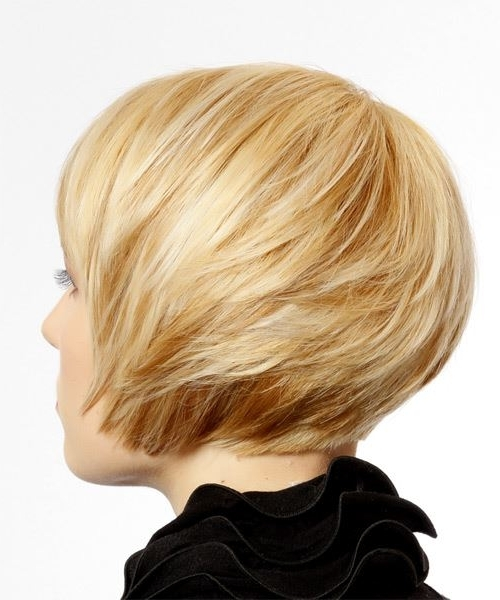 Short Straight Formal Hairstyle With Side Swept Bangs – Light Blonde Throughout Cream Colored Bob Blonde Hairstyles (View 22 of 25)