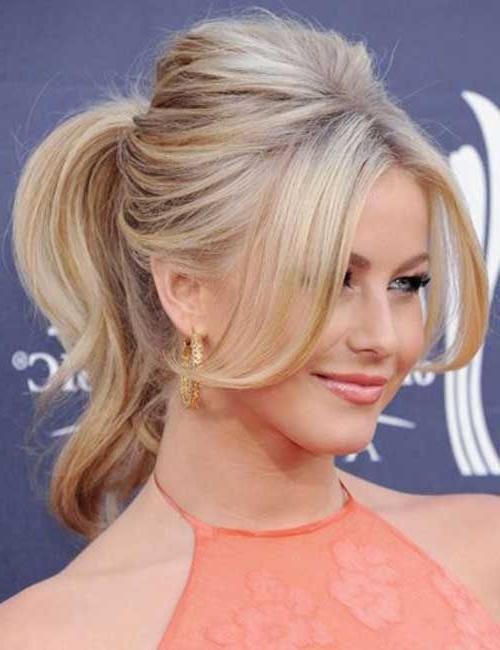 Short To Medium Hair Ponytail | Hair Style | Pinterest | Medium Hair Inside Midi Half Up Half Down Ponytail Hairstyles (View 25 of 25)