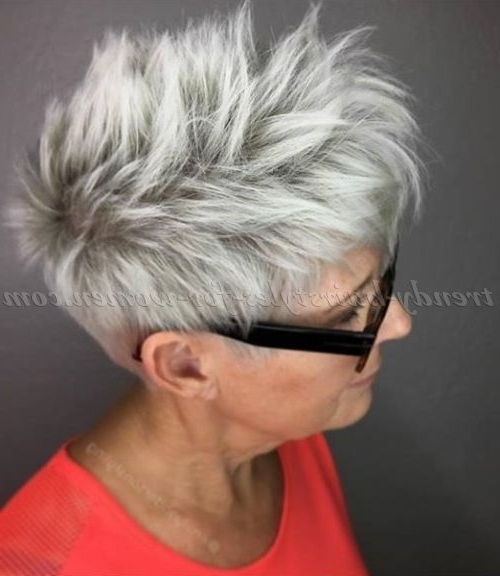 Short+Hairstyles+Over+50+ +Short+Hairstyle+For+Grey+Hair | Haircuts Intended For Sassy Silver Pixie Blonde Hairstyles (View 10 of 25)
