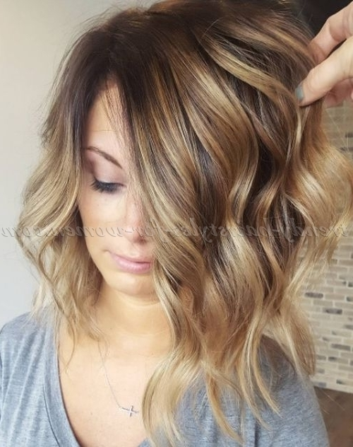 Shoulder Length Wavy Hairstyles – Honey Blonde Long Bob Hairstyle Pertaining To Honey Blonde Hairstyles (View 15 of 25)