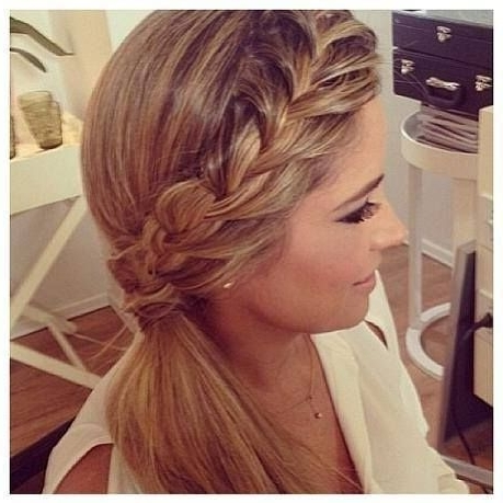 Side Braid Ponytail   Hairstyles :)   Pinterest   Bridesmaid Hair Regarding Side Braided Ponytail Hairstyles (View 13 of 25)