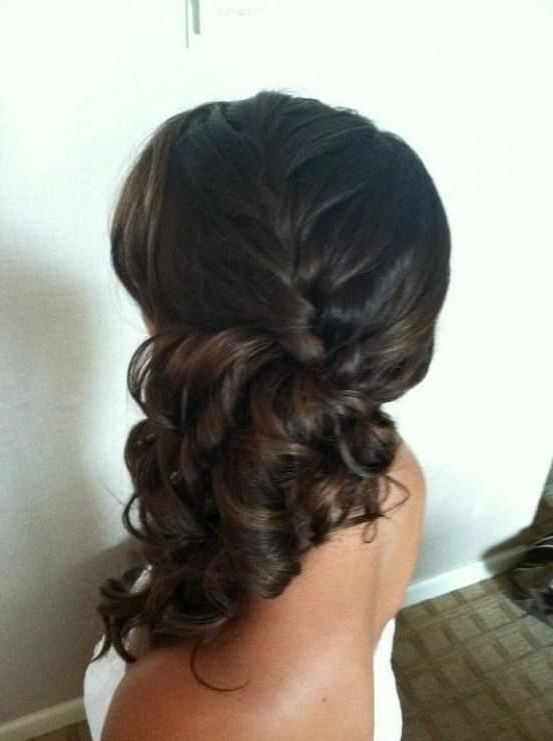 Side Braid Updo Hairstyles For Long Hair   Side Ponytail Braid Within Updo Pony Hairstyles With Side Braids (View 2 of 25)