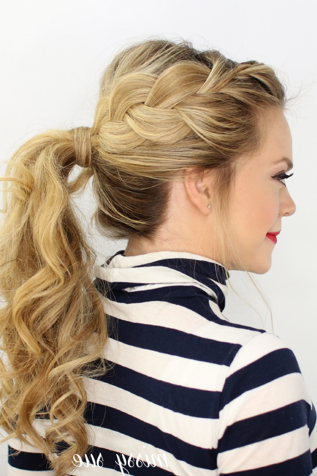Side French Braid Ponytail Intended For Messy Side Braided Ponytail Hairstyles (View 14 of 25)