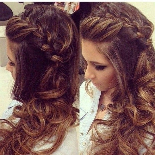 Side Ponytail Curly Low Updo Wedding Guest Hairstyles For Long Within Braided Side Ponytail Hairstyles (View 22 of 25)