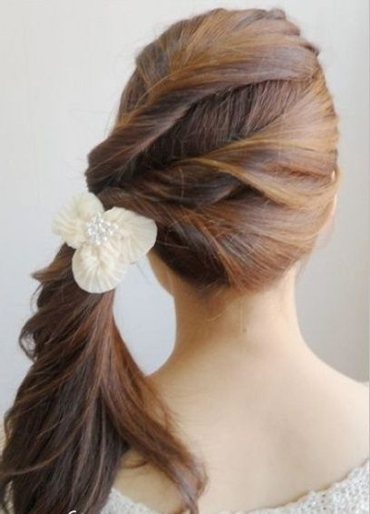 Side Ponytail With A Twist | Hair And Makeup | Pinterest | Side Throughout Twisted Side Ponytail Hairstyles (View 18 of 25)