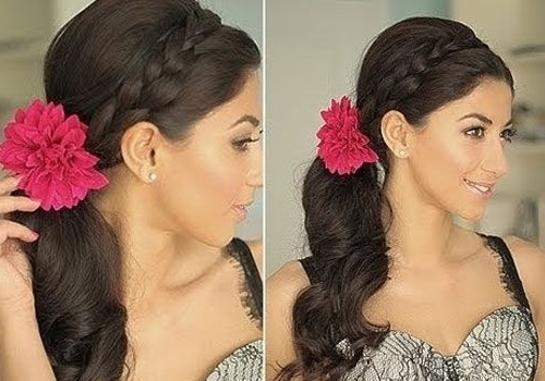 Side Ponytail With Braid Hairstyles   30 Wonderful Side Ponytail In Side Braided Ponytail Hairstyles (View 15 of 25)