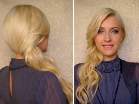 Side Swept Curls: How To Secure With Bobby Pins Down Do Hairstyle For Classy Pinned Pony Hairstyles (View 21 of 25)