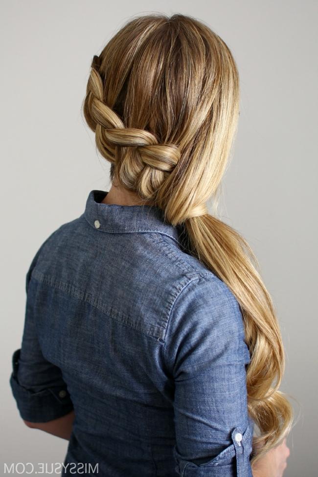 Side Swept Dutch Braid Ponytail Inside Dutch Braid Pony Hairstyles (View 23 of 25)
