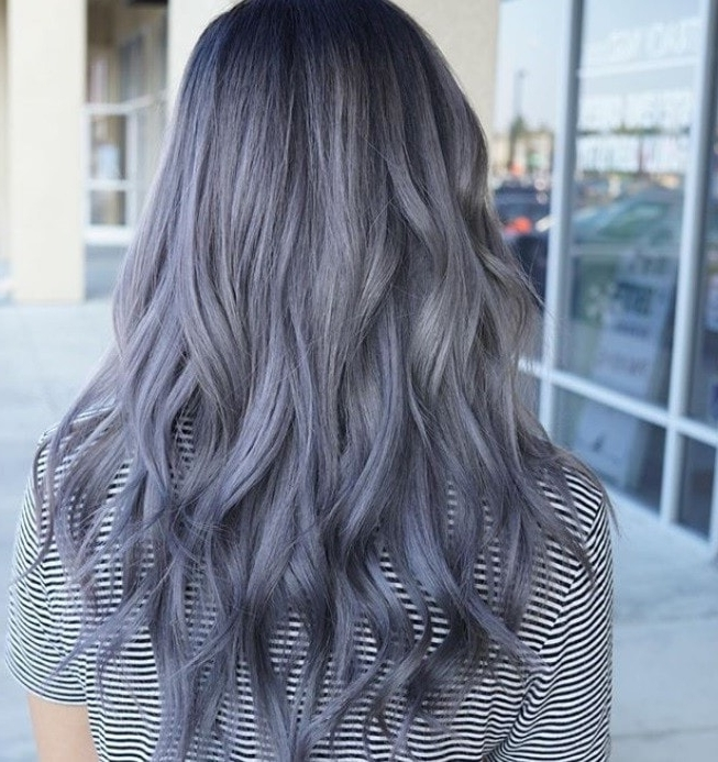 Silver Blonde Hair: 9 Reasons Why This Striking Hue Is Our Latest Pertaining To Dark Brown Hair Hairstyles With Silver Blonde Highlights (View 11 of 25)