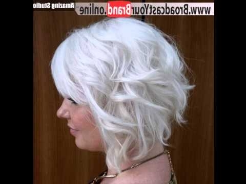 Silver Blonde Short Bob – Youtube For Short Silver Blonde Bob Hairstyles (View 18 of 25)