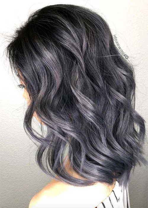 Silver Hair Trend: 51 Cool Grey Hair Colors & Tips For Going Gray Pertaining To Blonde Bob Hairstyles With Lavender Tint (View 24 of 25)