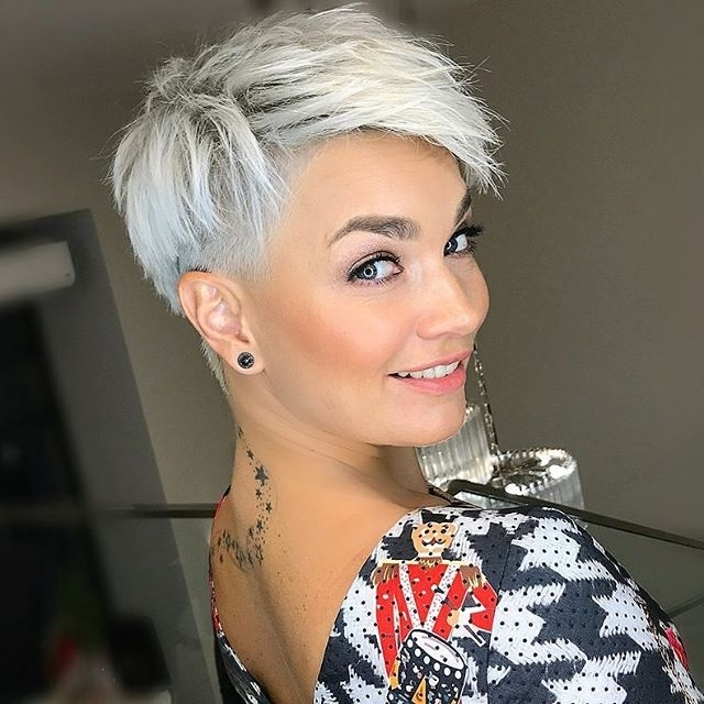 Silver: Pixie Hairstyles – Hair Colar And Cut Style For Most Current Silver And Brown Pixie Hairstyles (View 21 of 25)