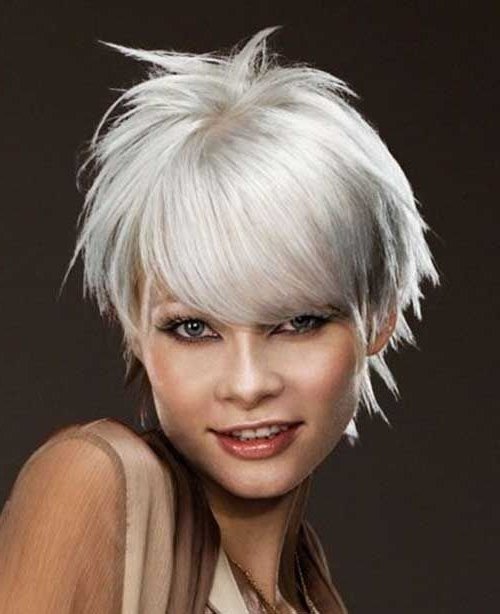 Silver Short Sassy Hair   Hair Ideas   Pinterest   Silver Shorts In Sassy Silver Pixie Blonde Hairstyles (View 2 of 25)