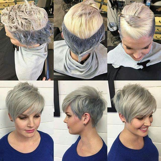 Silver Undercut Pixie | Hair | Pinterest | Undercut Pixie, Undercut Within Most Recently Silver And Brown Pixie Hairstyles (View 6 of 25)
