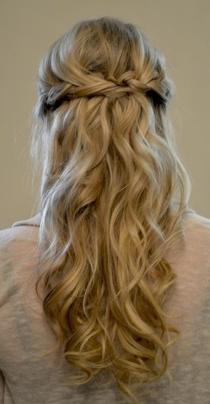 Simple Braided Prom Half Updo Hairstyle For Long Hair | Prom Makeup Pertaining To Formal Half Ponytail Hairstyles (View 22 of 25)