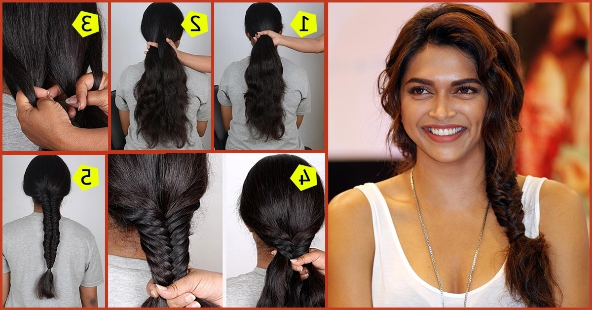 Simple Fishtail Braid Tutorial: Stepstep Picture Guide With Wispy Fishtail Hairstyles (View 20 of 25)
