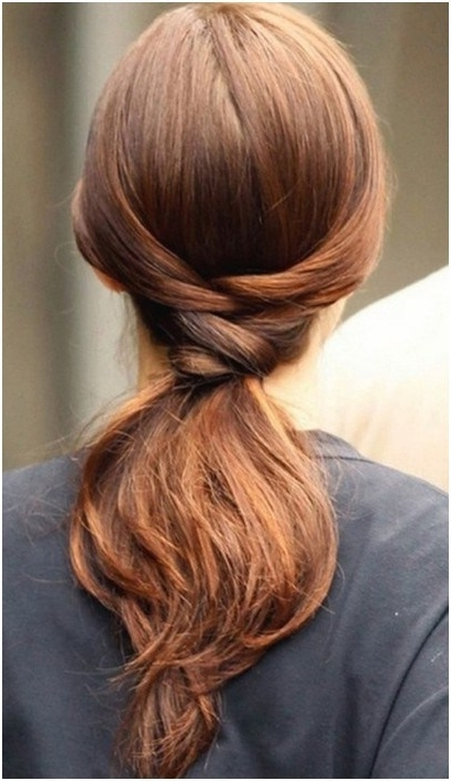 Simple Knotted Ponytail For Straight Hair | Styles Weekly With Regard To Braided And Knotted Ponytail Hairstyles (View 24 of 25)