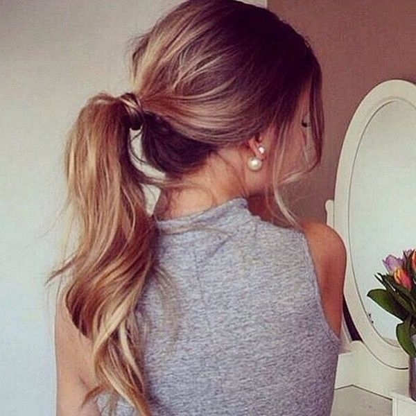Simple Quick Fashion Way Of Different Pony Tail Hairstyles Regarding Wrapped Up Ponytail Hairstyles (View 25 of 25)
