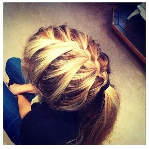 Simple Quick Fashion Way Of Different Pony Tail Hairstyles With Half French Braid Ponytail Hairstyles (View 19 of 25)