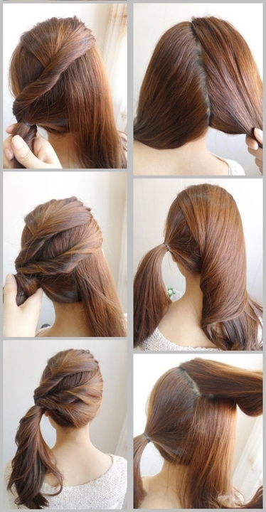 Skinny Tips: Side Twist Ponytail Tutorial – The Nest Inside Twisted Pony Hairstyles (View 21 of 25)