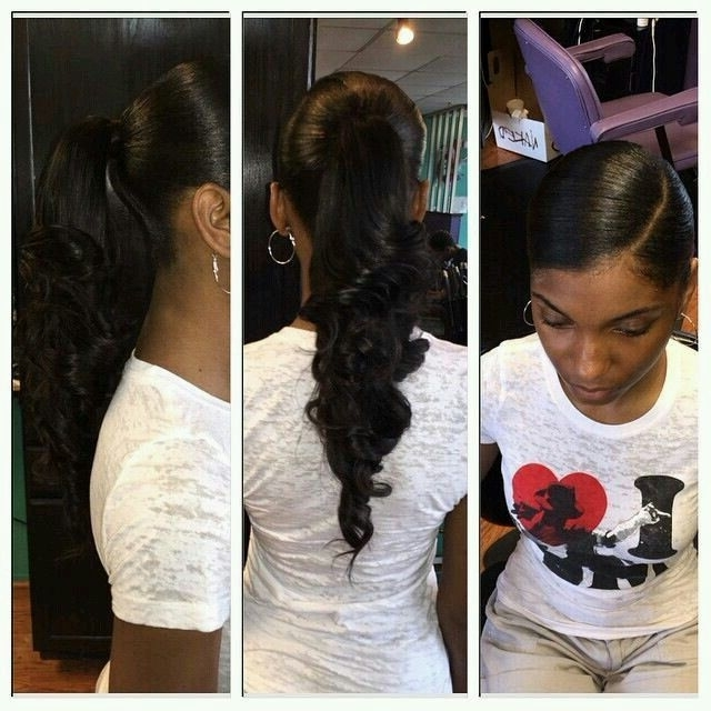 Sleek Curly Ponytail   Hair Work 2 ?   Pinterest   Ponytail, Curly With Sleek And Chic Ringlet Ponytail Hairstyles (View 3 of 25)