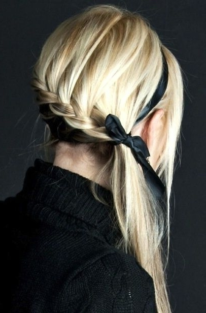 Someone Teach Me How To Do Super Cool Hair Styles! Hair Styles Inside Bow Braid Ponytail Hairstyles (View 9 of 25)