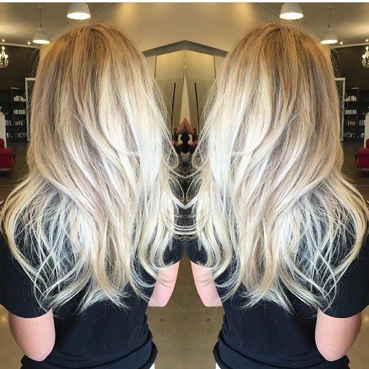 Sorta Straight/sorta Wavy Long Platinum Blonde Layered Hair | Long Regarding Long Platinum Locks Blonde Hairstyles (View 9 of 25)