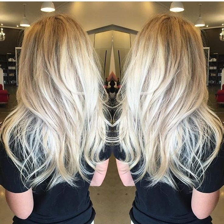 Sorta Straight/sorta Wavy Long Platinum Blonde Layered Hair | Long With Platinum Tresses Blonde Hairstyles With Shaggy Cut (View 3 of 25)