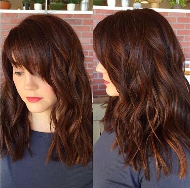 Spicy Auburn Color With Dimension And Shine – Hair Color In 2018 With Regard To Ginger Highlights Ponytail Hairstyles With Side Bangs (View 11 of 25)