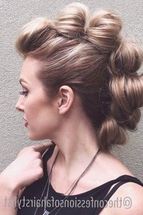 Statement Mohawk Hairstyles 2015 | Hairstyles 2015 / 2016, Hair In Two Tone High Ponytail Hairstyles With A Fauxhawk (View 1 of 25)