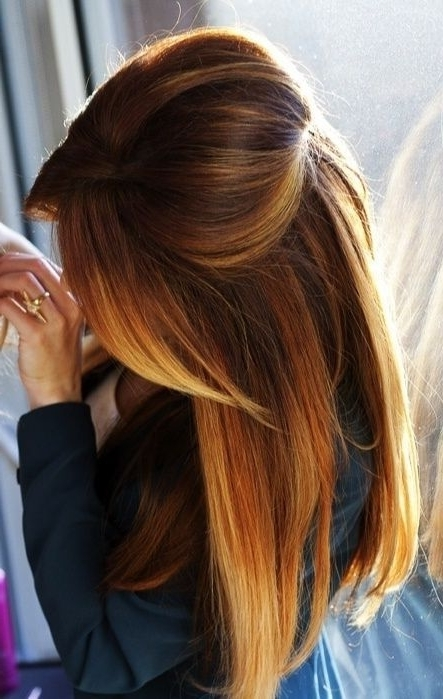 Straight Hair With Golden Hilights Fashion Hair Brunette Brown Long Regarding Loosely Coiled Tortoiseshell Blonde Hairstyles (View 11 of 25)