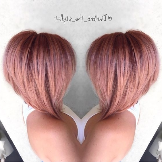 Stunning Rose Gold Hairstyles! – The Haircut Web With Regard To Current Rose Gold Pixie Hairstyles (View 19 of 25)