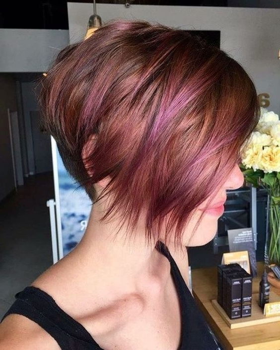 Stylish Pixie Haircut For Women, Short Hairstyle And Color Ideas Throughout Latest Reddish Brown Layered Pixie Bob Hairstyles (View 4 of 25)